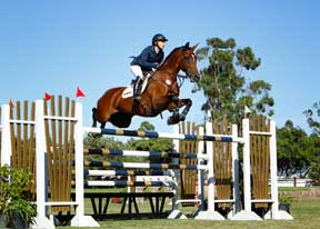 Ashlee Bond and Wistful on Course at Blenheim.