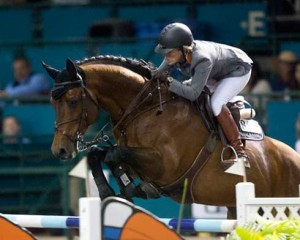 Merdith Michaels Beerbaum and Cantano on course at Del Mar.