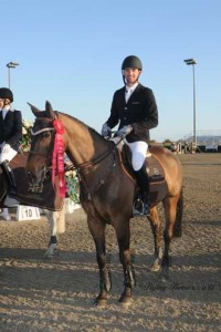 Eduardo Menezes and Tomba accept their red ribbon for second.
